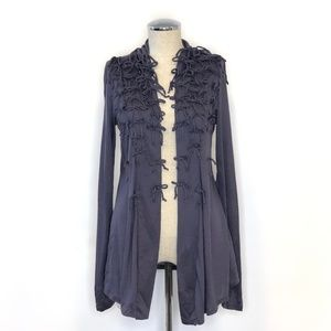 ANTHROPOLOGIE Deletta open front cardigan #P02